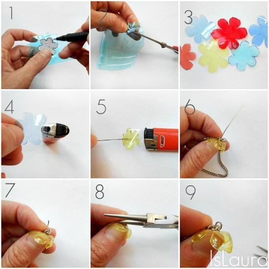 Il tutorial fiori di plastica per fare un bracciale