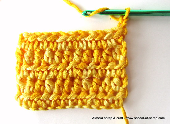 Uncinetto: la mezza maglia alta