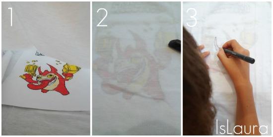 colorare una maglietta Skylanders