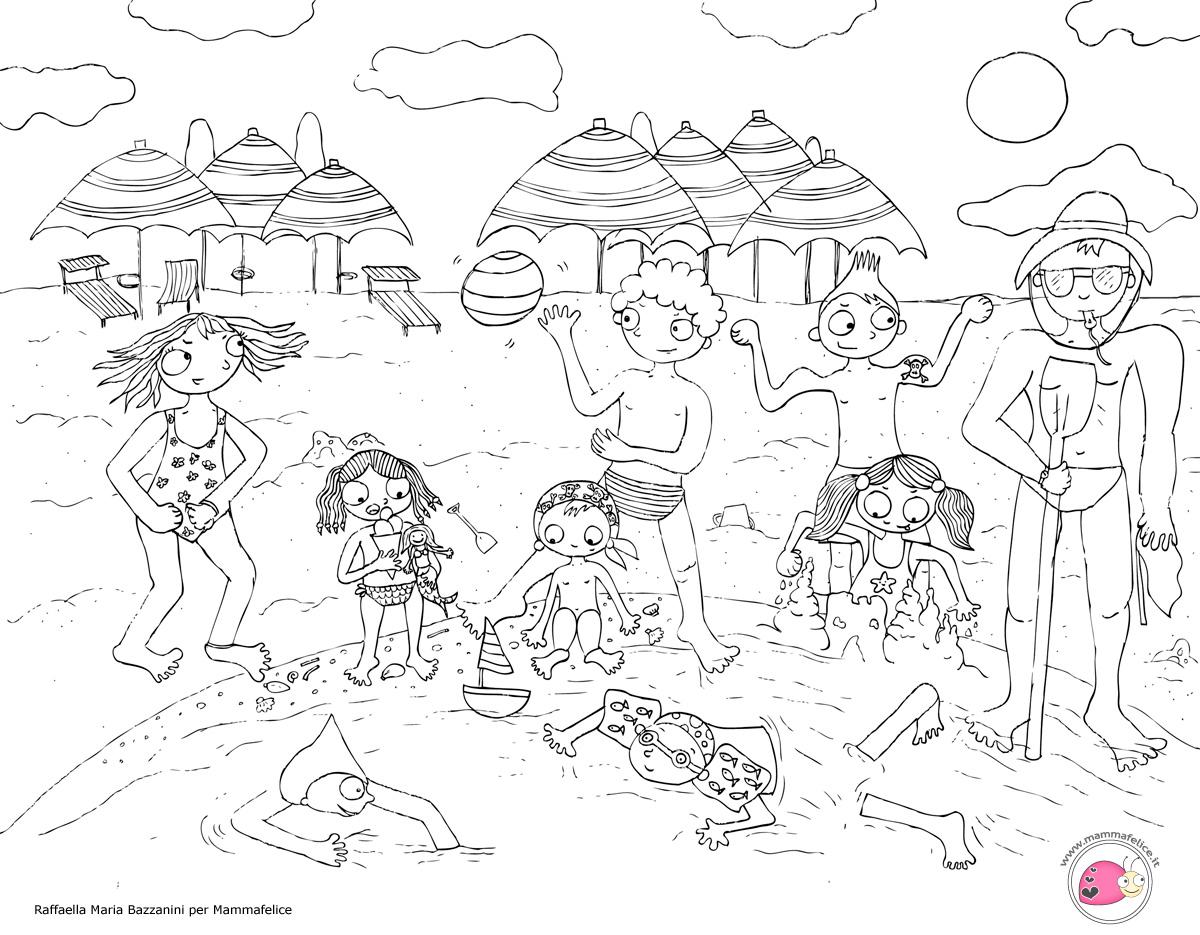Disegni mammafelice disegni da colorare gratis per bambini for Disegni da colorare paesaggi marini