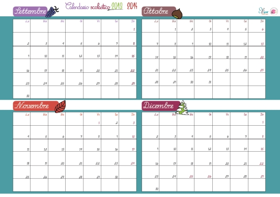Calendario Da Scaricare.Calendario Scolastico 2013 2014 Da Stampare Mamma Felice