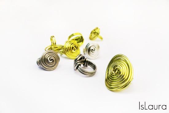 anelli in metallo-alluminio wrapped