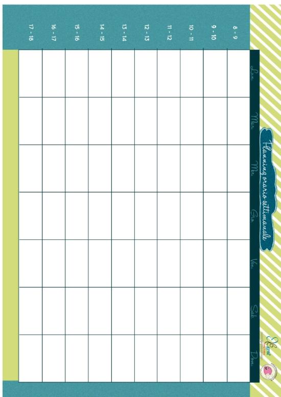 Favoloso Planning orario settimanale da stampare | Mamma Felice XN22