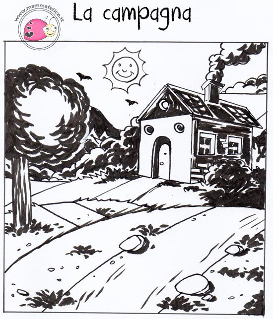 Come disegnare un paesaggio mamma felice for Disegni di mare da colorare
