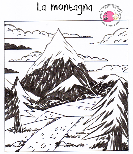 Come disegnare un paesaggio mamma felice for Paesaggi semplici da disegnare