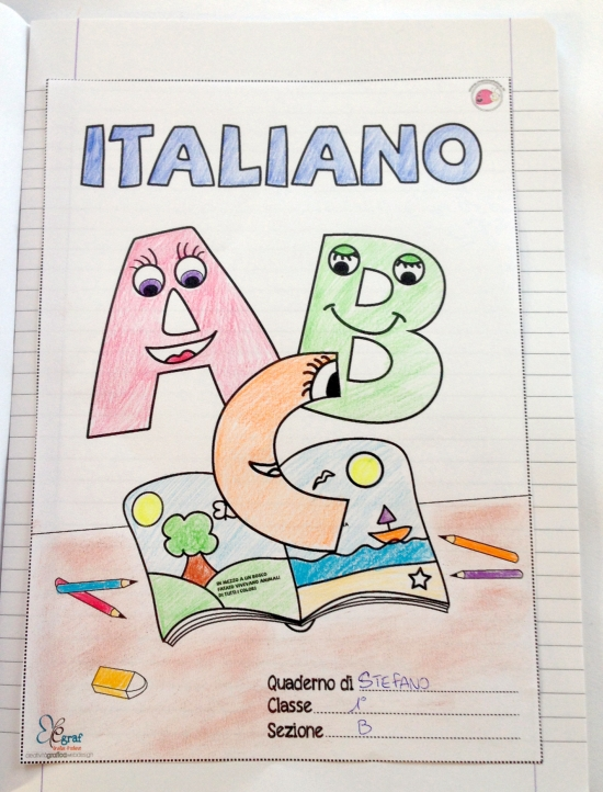 Copertina Quaderno Di Italiano Da Scaricare Mamma Felice