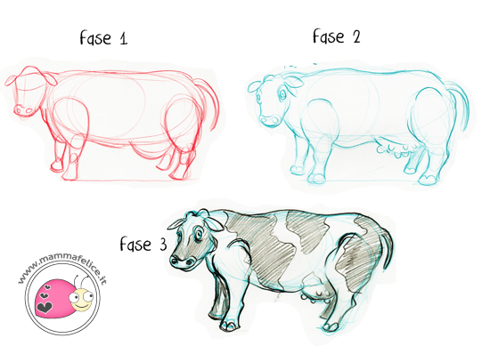 Eccezionale Come disegnare gli animali   Mamma Felice KN36