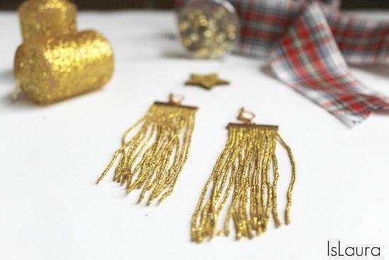 orecchini con frange per le feste