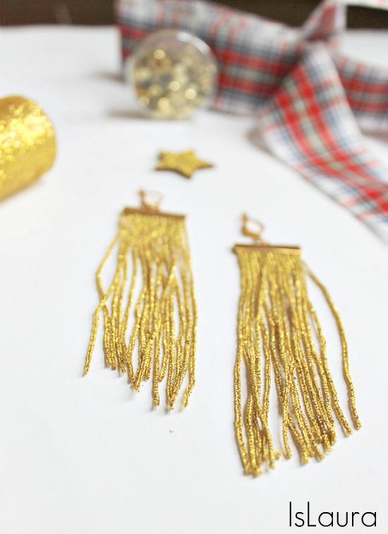 orecchini per le feste con le frange