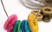 collana con rondelle colorate