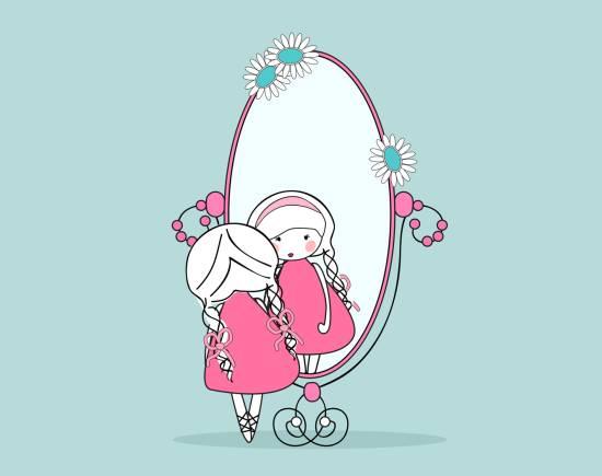 Siamo uno specchio di amore e di esempio mamma felice - Frasi sul riflesso dello specchio ...