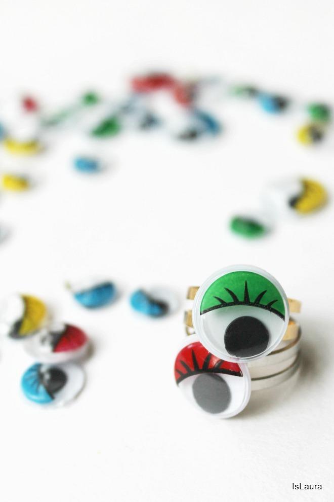 anelli con occhietti mobili e ballerini
