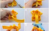 collage fiore giallo cerniera