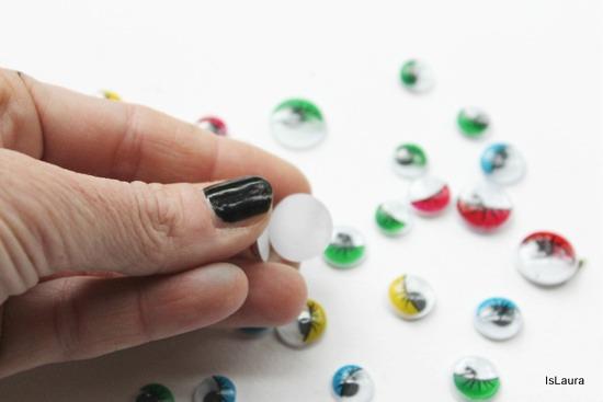 eliminazione pellicola protettiva occhitti mobili