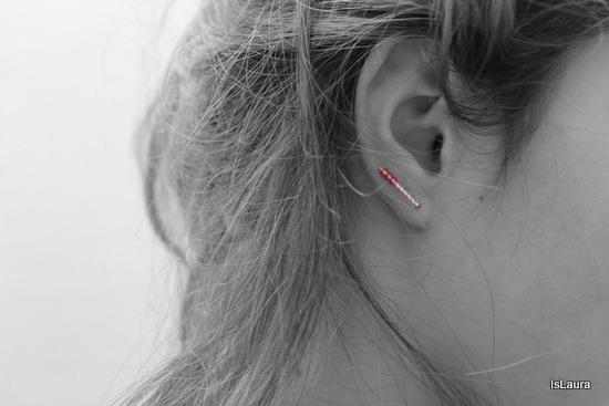 orecchino fai da te con perline in 2 minuti