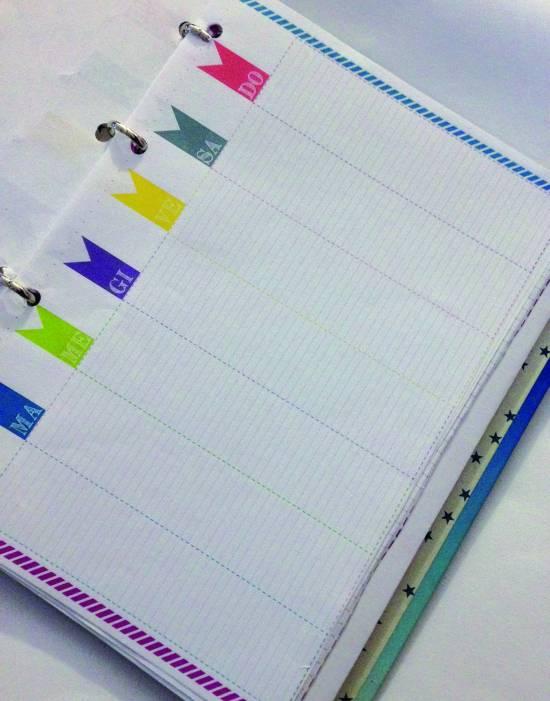 ... mensile, il planner settimanale, i fogli per arricchire l'agenda