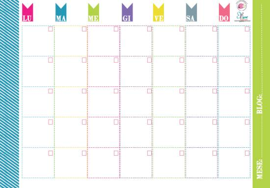 Planner mensile da stampare gratis