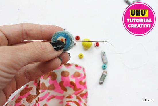 step 12 bracciale con perle di carta