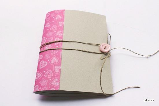 notebook con scatola dei cereali terminata