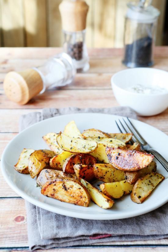 Patate al forno perfette con la buccia vegetariane vegan