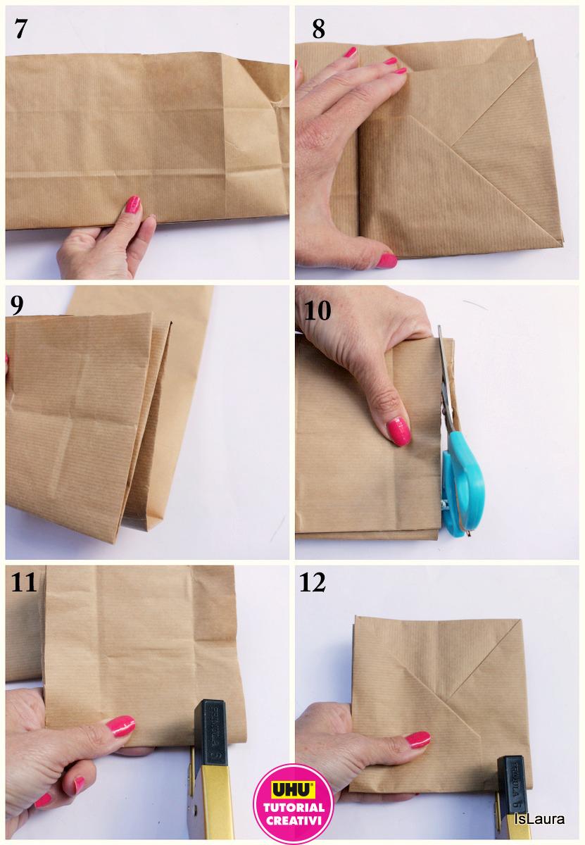come realizzare un quaderno riciclando un sacchetto di