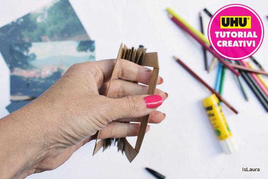 quadernino realizzata con sacchetto di carta