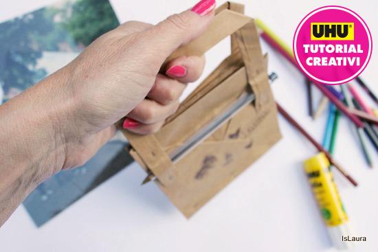 borsa quaderno realizzata con busta di carta