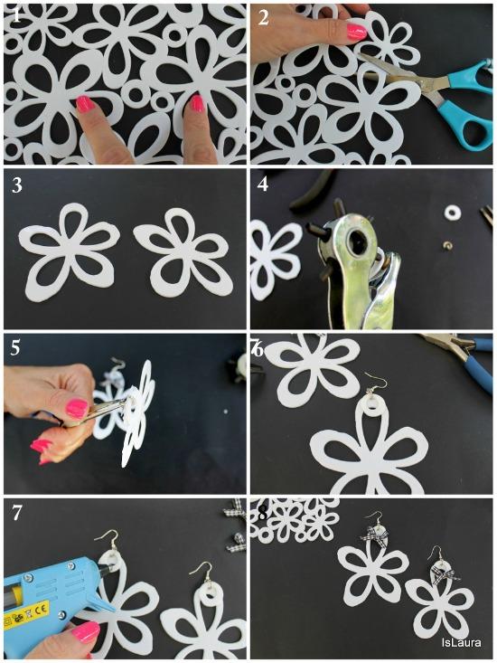 collage fiori con tappetini da bagno, come si fa
