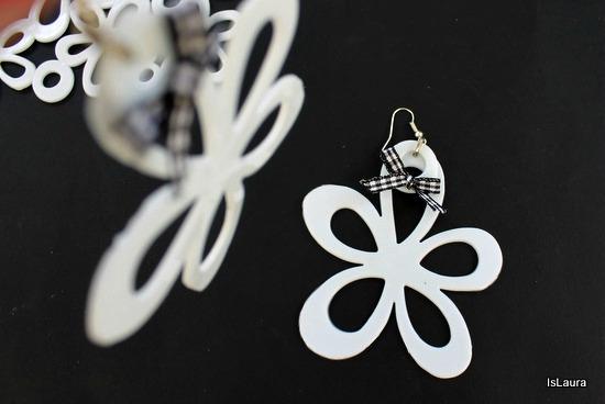 orecchini con tappetini da lavello  a forma di fiore