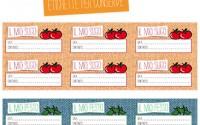 Etichette da stampare per conserve di frutta e verdura