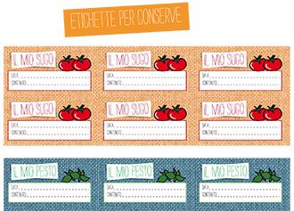 Etichette per conserve