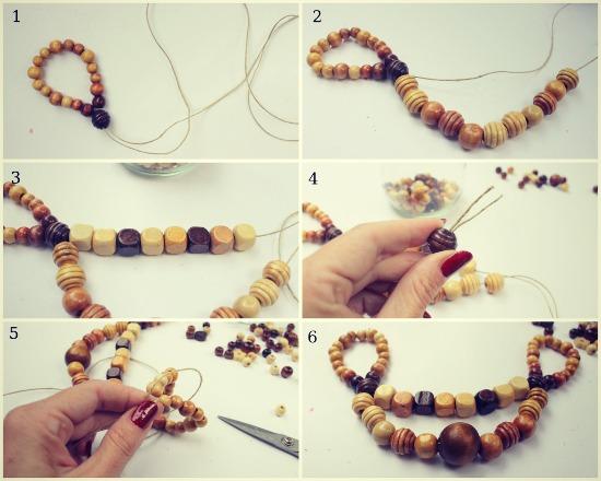 Come realizzare una collana estiva con perline di legno  Mamma Felice