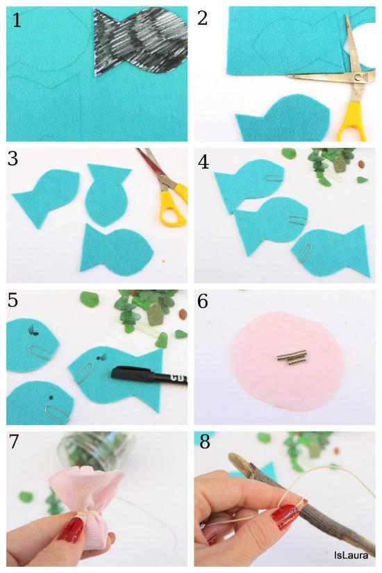 Collage gioco pescapesci con le calamite