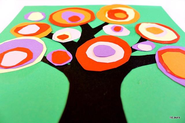 Foglie- cerchio tronco Kandinshy trees bambini