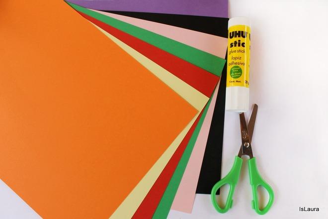 Occorrente Kandinsky trees cartoncini colorati, colla e forbici