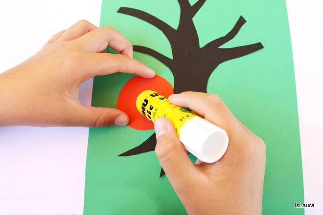Posatura colla fiori  per  Kandinshy trees bambini