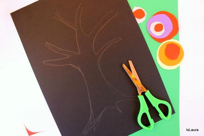 Ritaglio sagoma stilizzata Kandisnsky tree