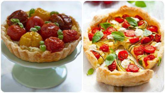 ricette-menu-ferragosto-torta-salata-pomodorini-caprino-ricotta-zucchine-basilico