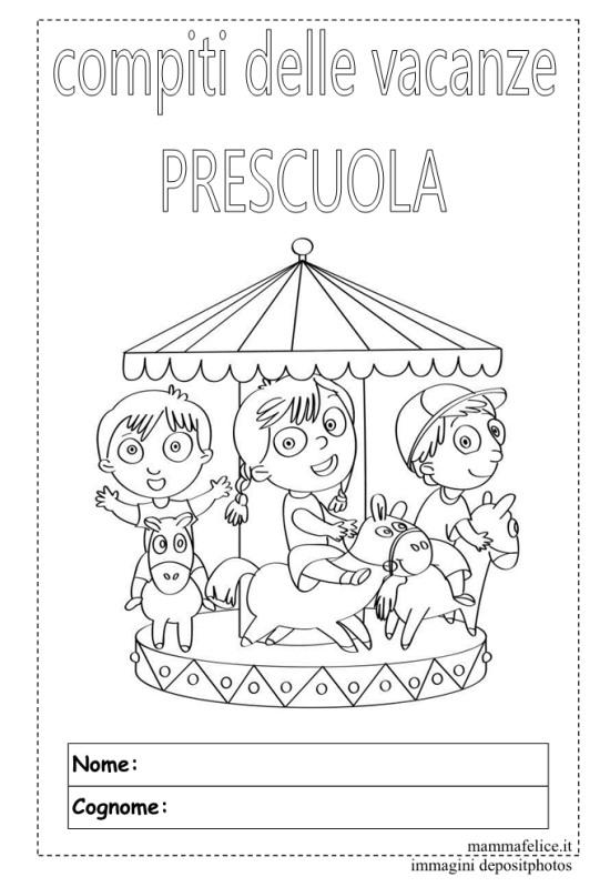 Prescuola libro delle vacanze da scaricare mamma felice - Libri di scuola materna stampabili gratuitamente ...
