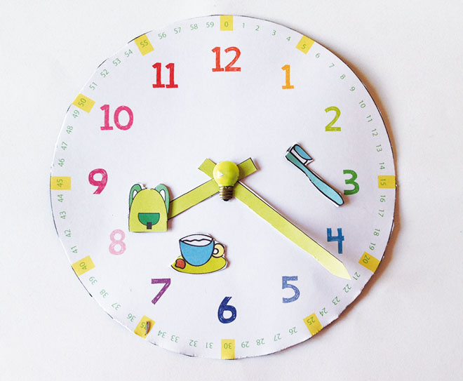 orologio a lancette per bambini