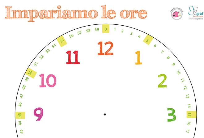 spesso Insegnare a leggere l'orologio ai bambini: PDF da scaricare  TI18