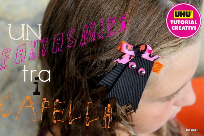 Tutorial-fermacapelli-Halloween-fantasmino-con-nastri-e-occhietti-ballerini