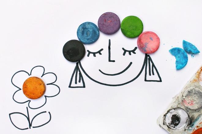 disegnare con fantasia riciclo acquerelli rotti colori