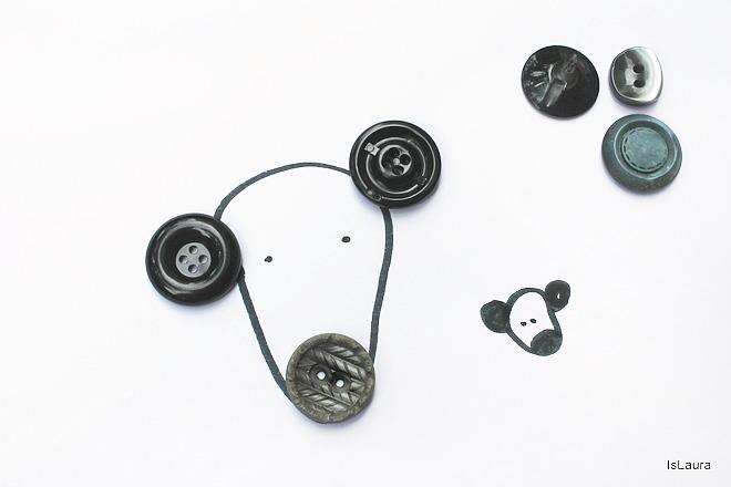 disegnare con fantasia riciclo uso alternativo di bottoni
