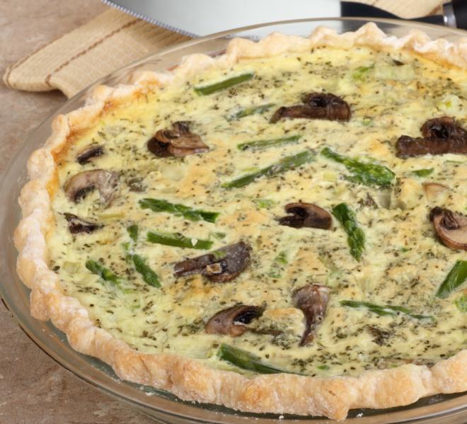 torta-salata-asparagi-funghi-champignons-rucola-fontina