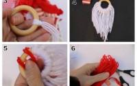 Collage-come-fare-un-Babbo-Natale-da-appendere-con-anello-in-legno-e-lana.