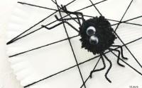 Halloween: ragnatela con ragno di pompon