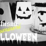 Come fare lumini coloraticon bicchieri dello Yogurt per Halloween