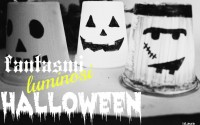Come fare lumini coloraticon bicchieri dello Yogurt per Halloween