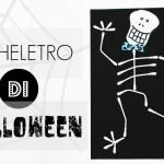 Come fare uno scheletro per Halloween con cartoncino cotton fioc
